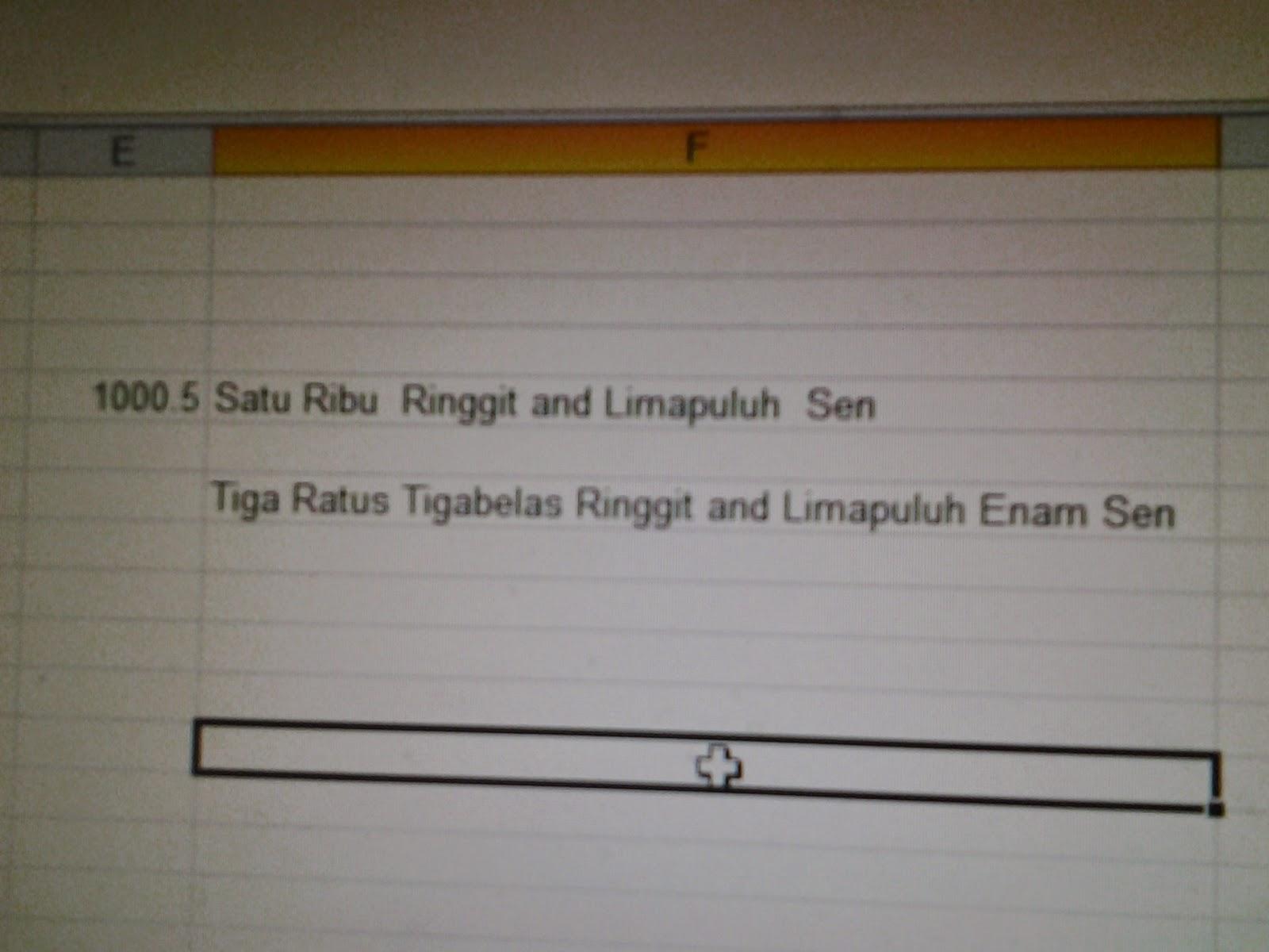 Ramadanict Ms Excel Nombor Kepada Perkataan