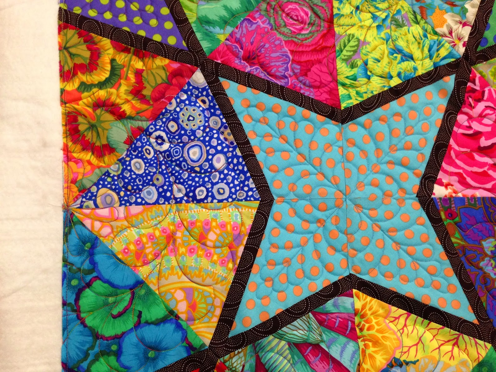 Kim Sessions Colorful Star Quilt