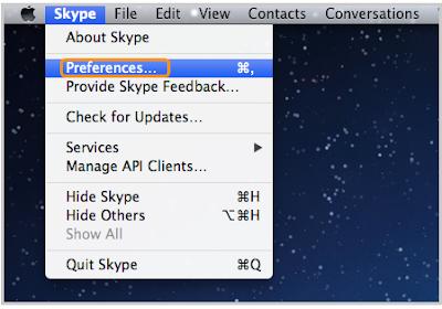 cancellare chat skype mac