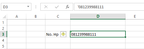 Cara Menulis Angka 0 di Depan Pada Microsoft Office Excel 4