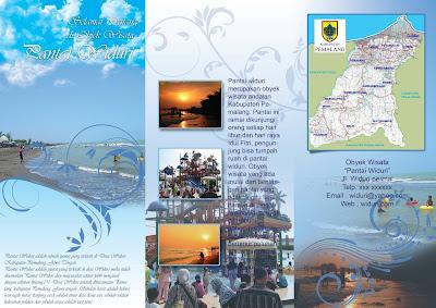 cara membuat brosur dengan photoshop, belajar photoshop, pemula, cs6, pantai widuri, brosur wisata, brosur travel