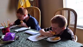 homework, snack