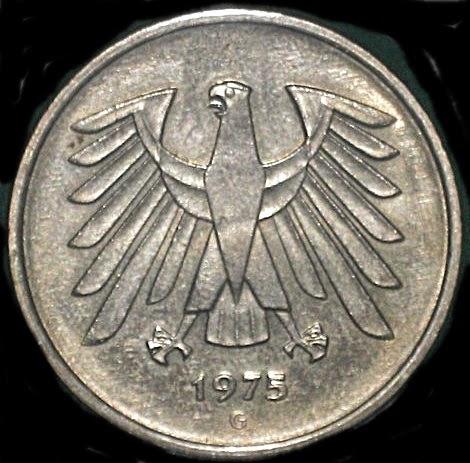 monedas de m xico y el mundo alemania 5 deutsche mark de. Black Bedroom Furniture Sets. Home Design Ideas