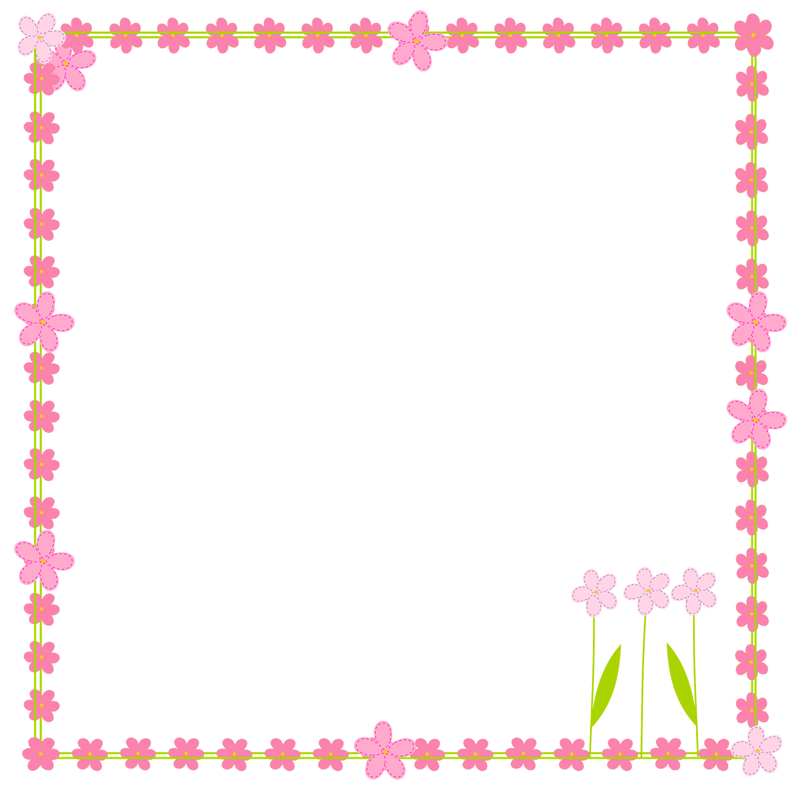 free digital flower border scrapbooking elements - Clipart ...