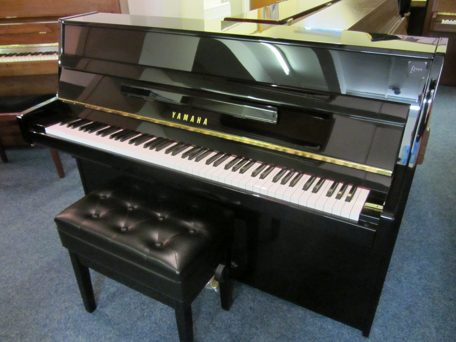 Used Black Yamaha Upright Piano