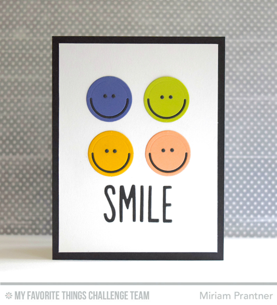 Smile Card by Miriam Prantner featuing the Laina Lamb Designs Hip Clips and Emmitt Alphabet Die-namics #mftstamps