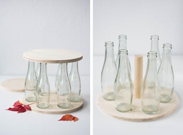 nachmachtipp flaschen etagere sinnenrausch diy und. Black Bedroom Furniture Sets. Home Design Ideas