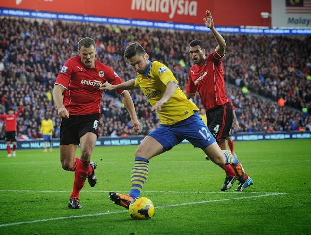 Giroud vs Cardiff
