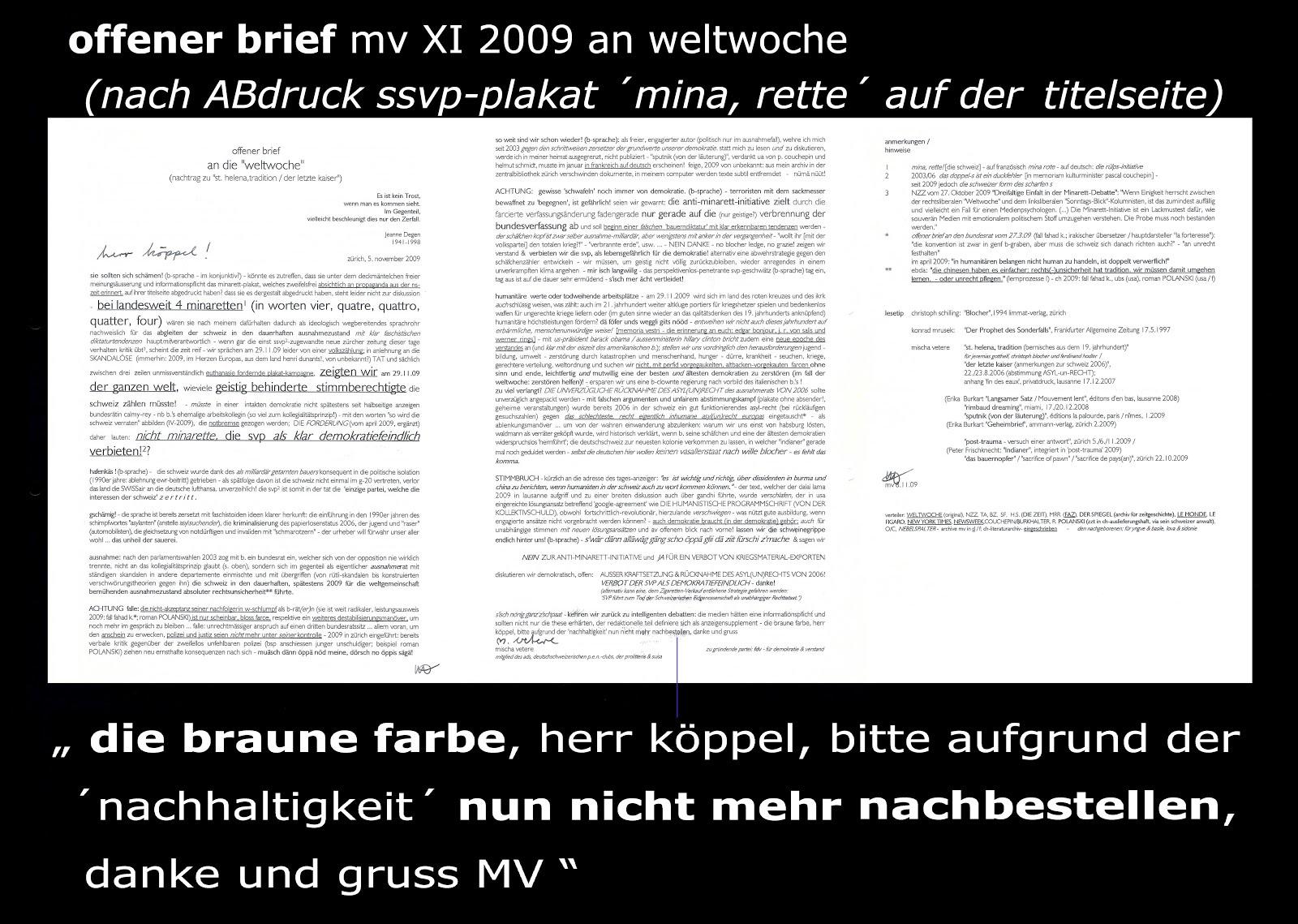 simonetta sommaruga neue zürcher zeitung offener brief an weltwoche köppel von mischa vetere 2009