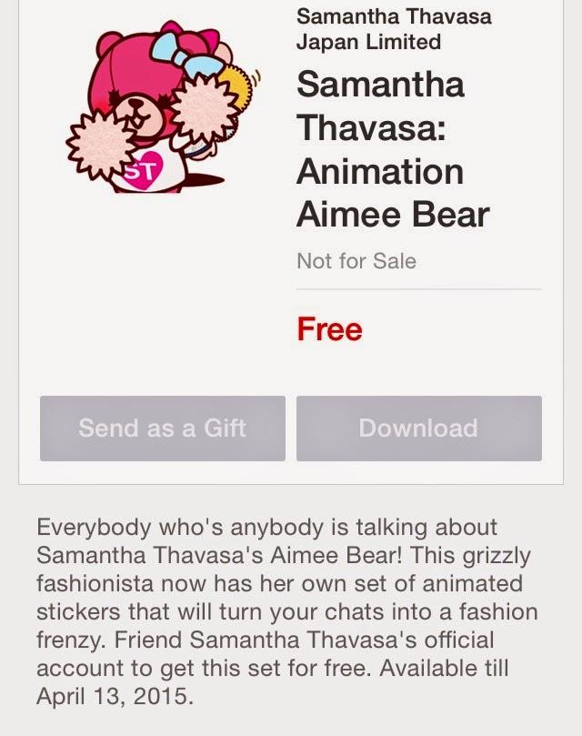 Samantha Thavasa: Animation Aimee Bear