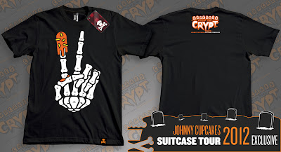 "Johnny Cupcakes 2012 Suitcase Tour ""Cupcakes From The Crypt"" Exclusives - Skeleton Peace Sign"