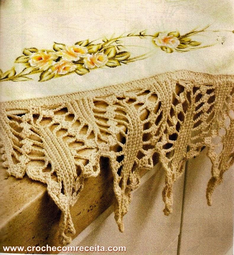 ATELIÊ ARTE DE BORDAR: Barrado para toalhas em crochê