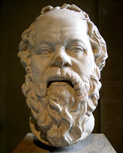 Sokrates, marmorhovede på Louvre
