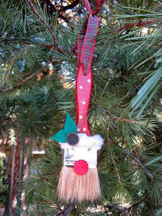 Papá Noel decoración árbol