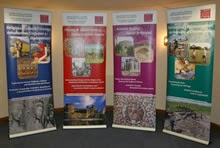 exhibition design roll-up banners for cardiff university