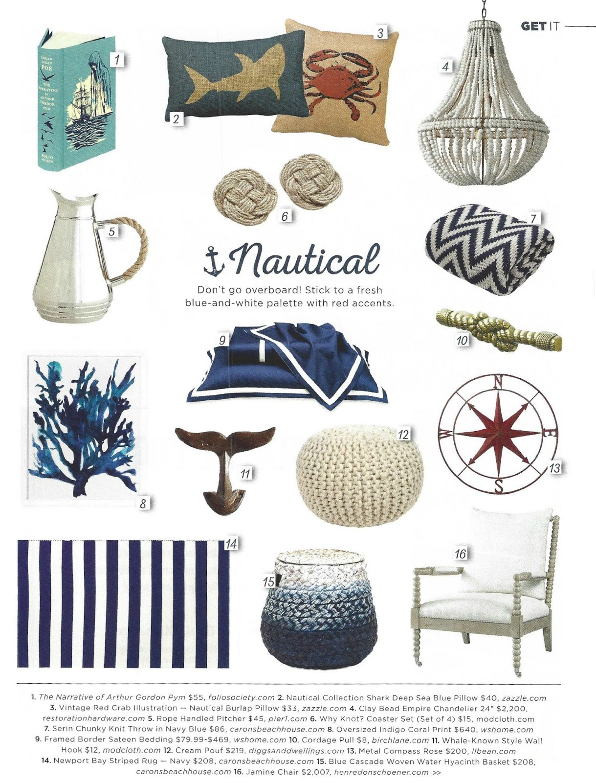 More Blue And White Nautical Decorating Ideas!