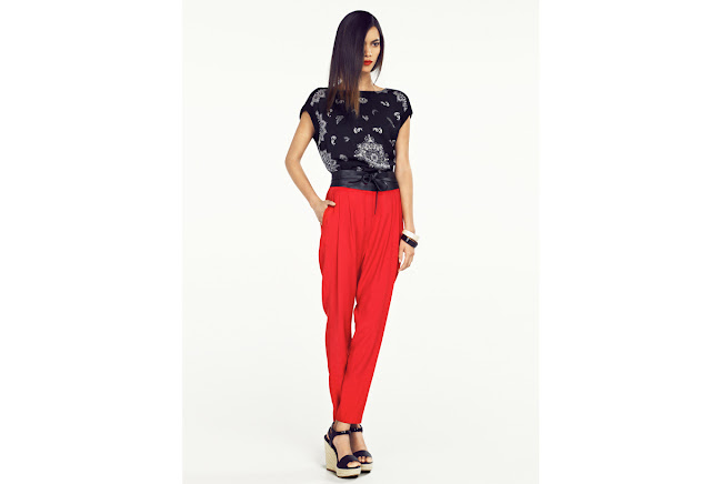 Mango lookbook March 2013 spanish fashion prints red spring fashion trends
