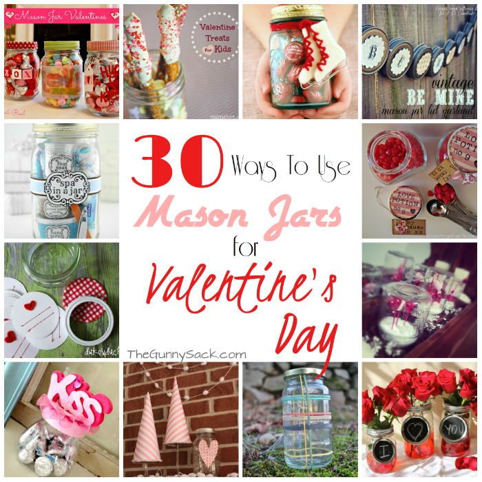 30 Mason Jar Ideas For Valentine's Day
