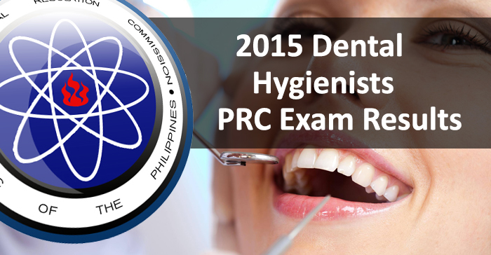 Top 3 Placers June 2015 Dental Hygienists (Written) Board Exam Result