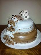 Torta hnedo-biela 2
