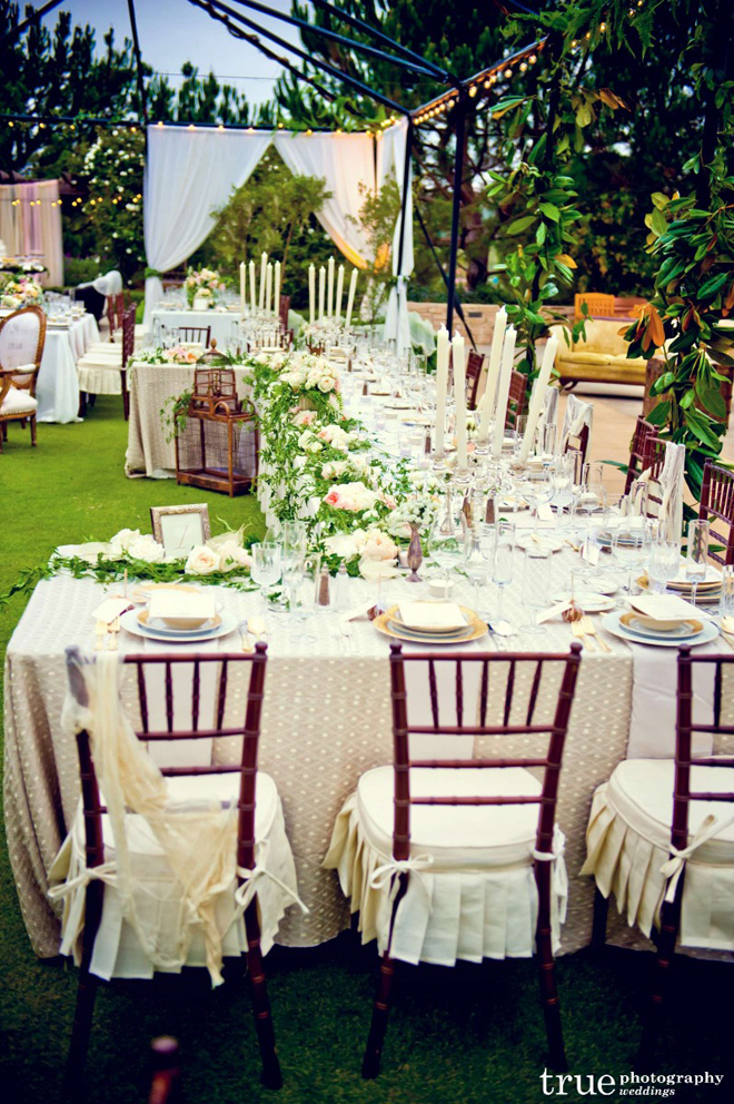 Long tables wedding receptions belle the magazine for Decoration jardin soiree
