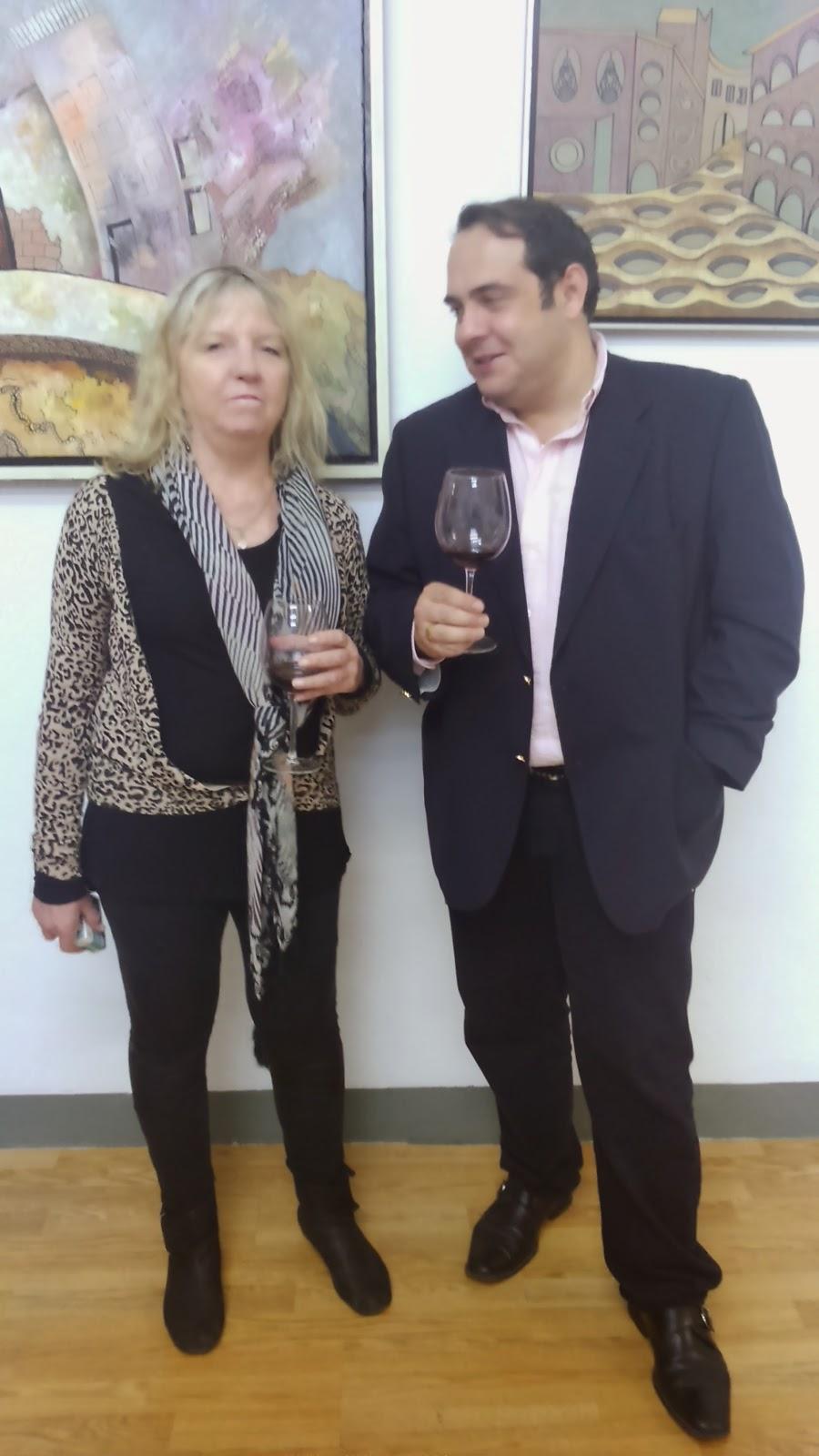 Fermín Fernández-Belloso con Patricia Patts