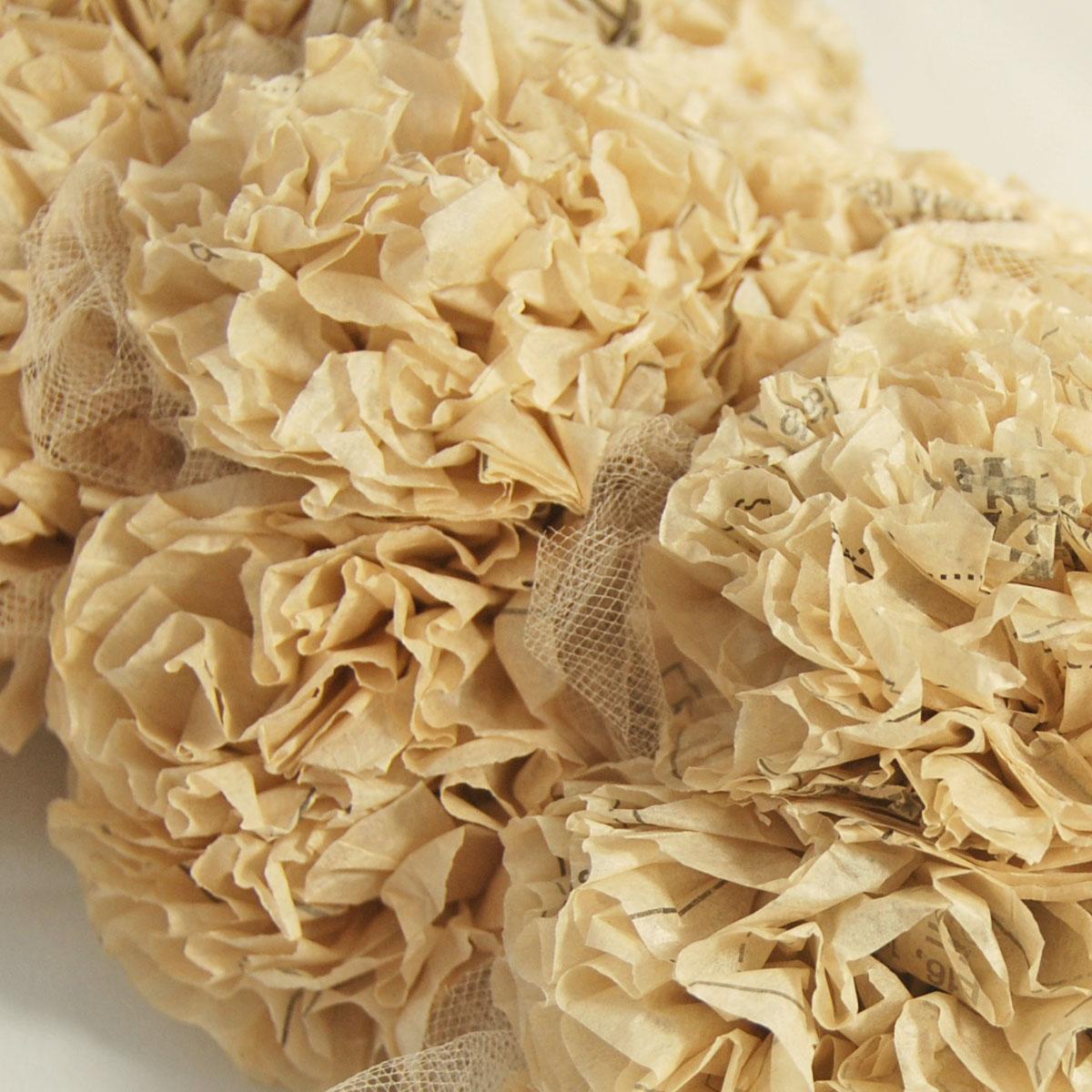Prettie Parties Prettientage Paper Flower Wreath