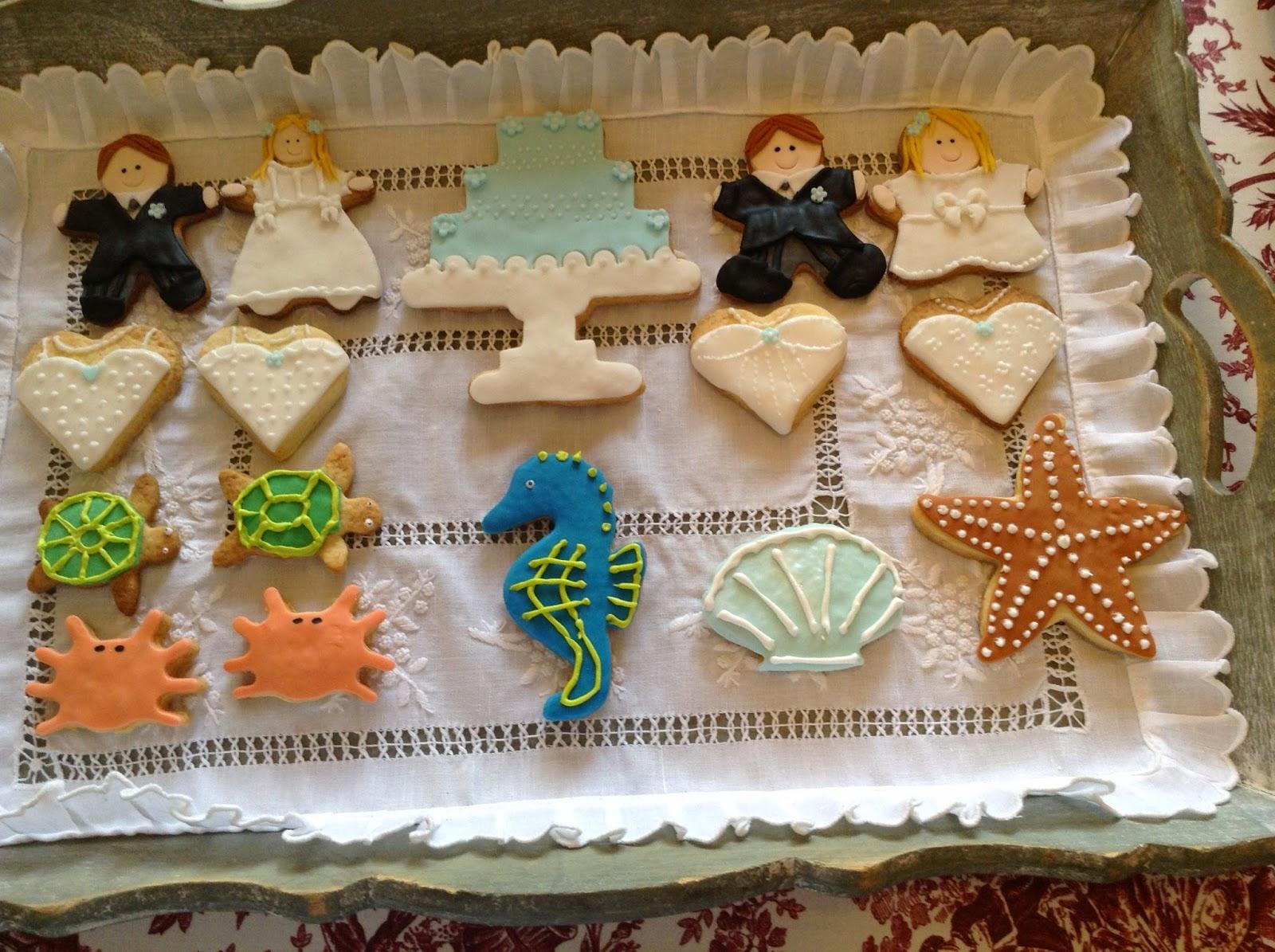 Boda junto al mar, galletas marinas