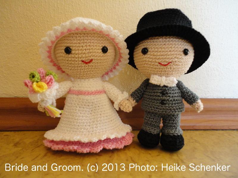 Brautpaar Amigurumi - Amigurumi Häkelanleitungen von K and J Dolls