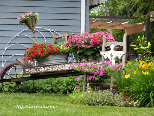Junk Garden Wheelbarrow
