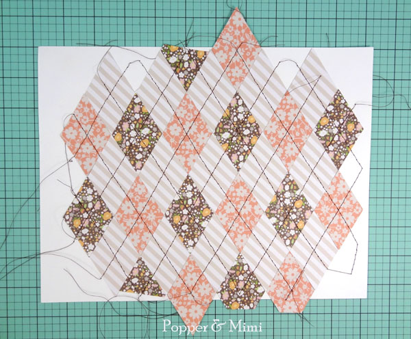 Stitched paper argyle pattern | popperandmimi.com