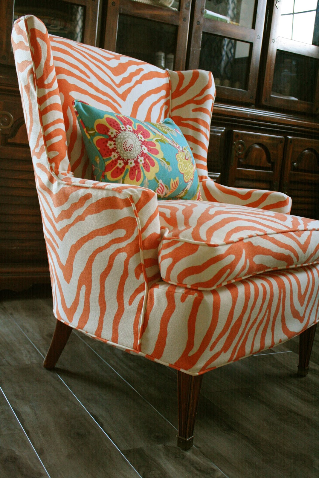 Custom Slipcovers By Shelley Sewing Contest Week 2 Orange Zebra Chair