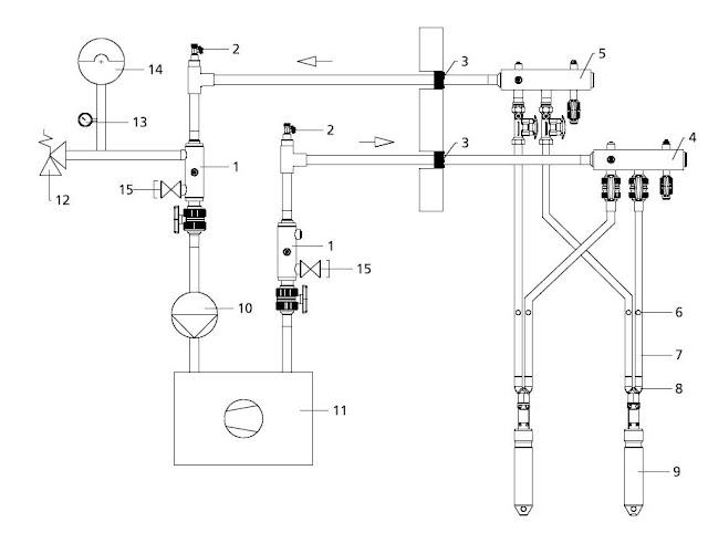 instalacion con bomba de calor geotermica