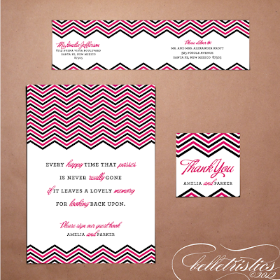modern pink black chevron printable diy wedding favor tag sign