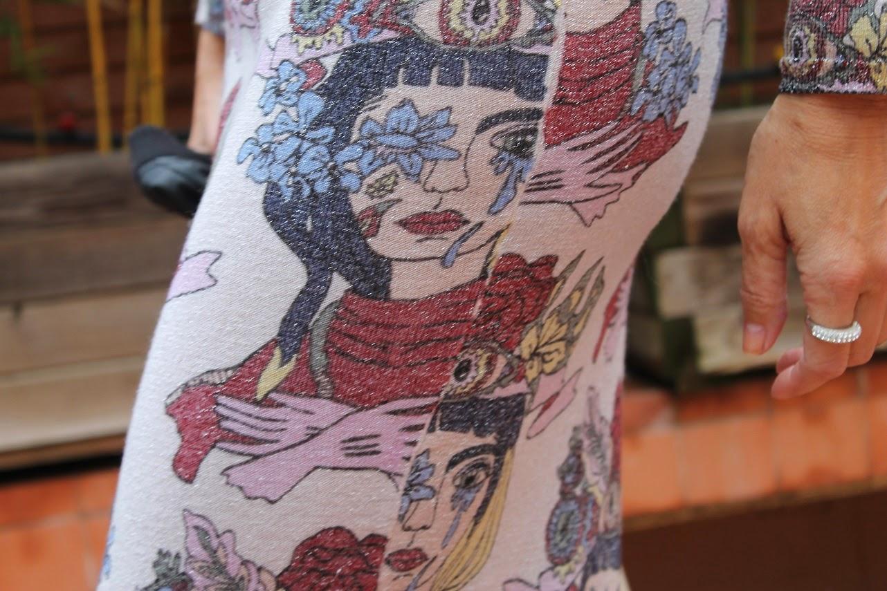 Dress Bimba&Lola, Look, vestido en punto de lurex, bolso vintage, como llevar un vestido de lurex, streetstyle, De mi rollo, Con Zapato de cordones con plataforma, shoes, Carmen Hummer, Lifestyle, blogger de moda, Blog de moda en Madrid, Fashion, Tendencias