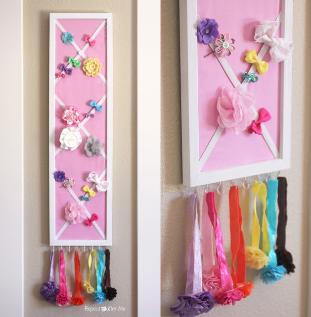 DIY Hair Bow Holder (or Message Board!) - feed2hand
