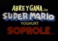 Abre y gana con yoghurt Soprole - Super Mario World - 1994