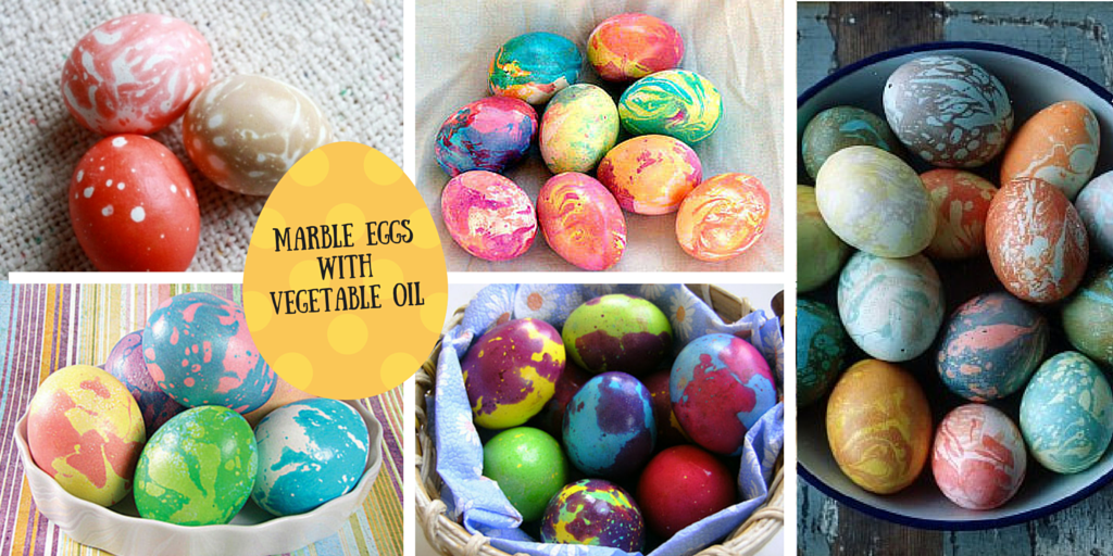 Marble eggs with vegetable oil