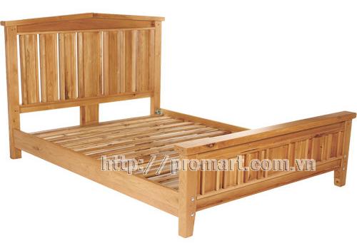 Giường đôi gỗ sồi Elegance King Size xuất khẩu Mỹ