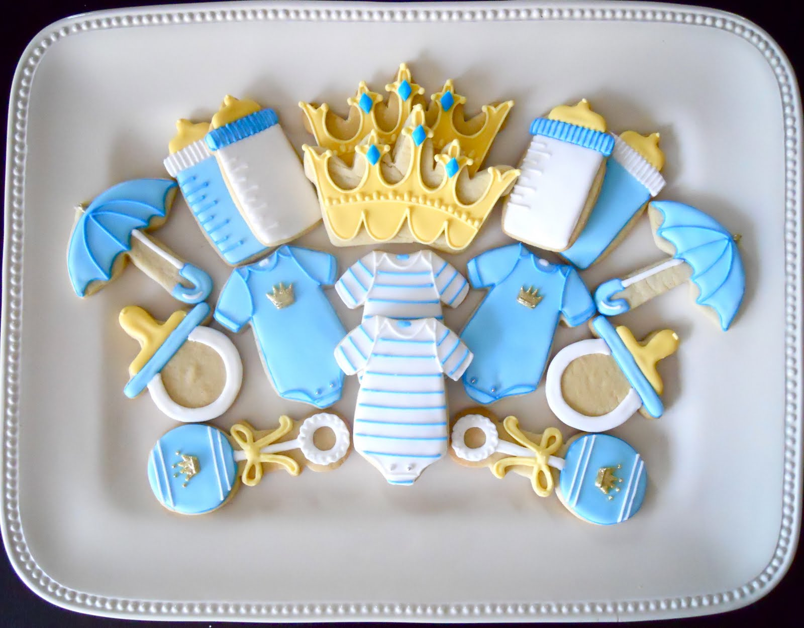 Oh Sugar Events Little Prince Shower Cookies