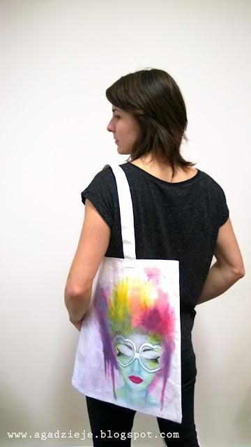 Torba eco – tęczowa myśl ( malowanie na tkaninie )