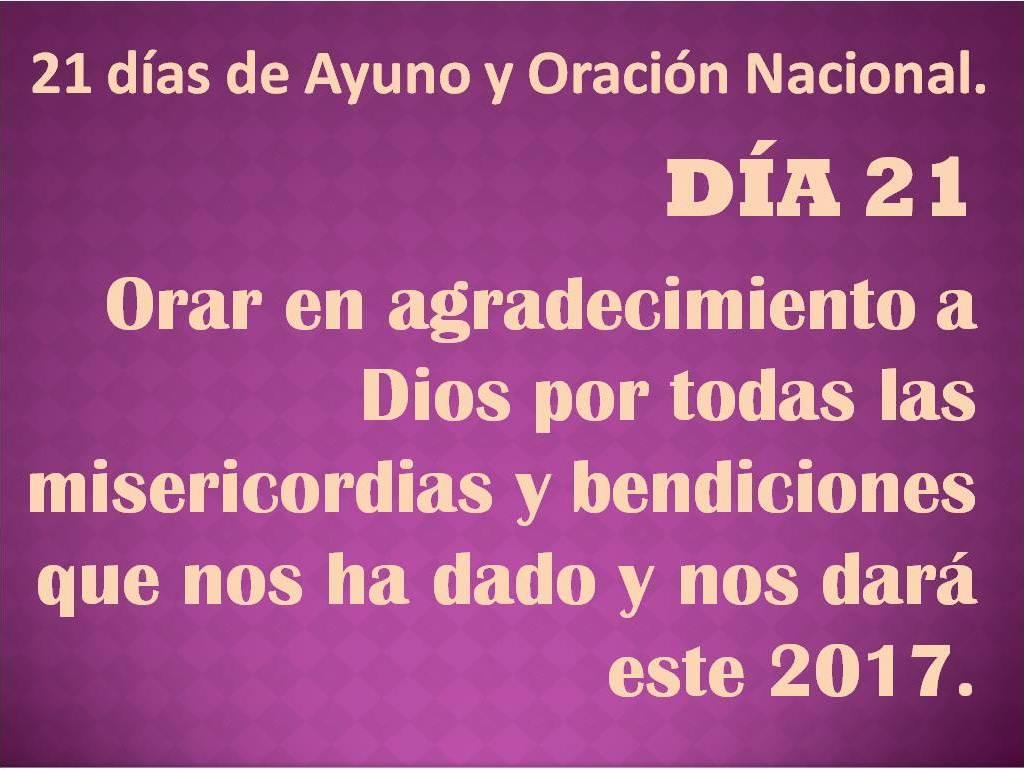 oración del día 21.