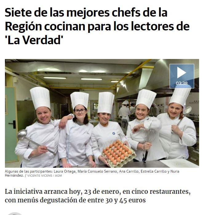 Siete de las mejores chefs de la Región cocinan para los lectores de La Verdad de Murcia.