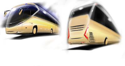 Design bus Raja by Ririe (Senior Designer Karoseri Laksana)