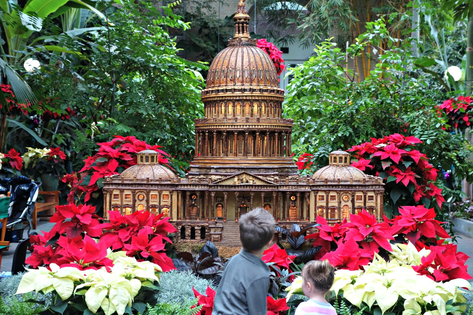 Butler family bugle christmas trains at the national botanical gardens for Botanical gardens dc christmas