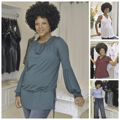Negra Li Grávida Vestida de Zazou Moda Gestante