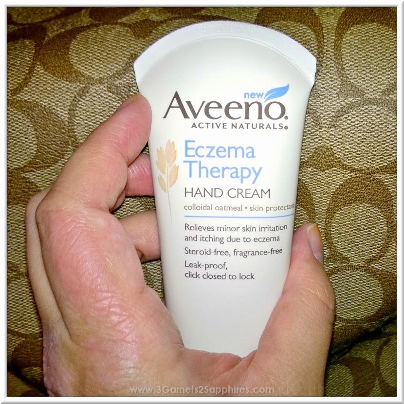 Aveeno Eczema Treatment Hand Cream #AveenoEczemaTherapy #MC  |  www.3Garnets2Sapphires.com