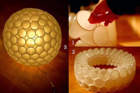 DIY lighting decoration out of waste cold drink cups | Interesting ...