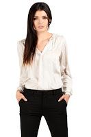Camasa cu maneca lunga, eleganta, de culoare bej ( )