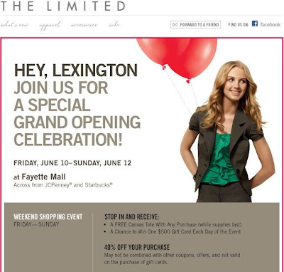The Limited Reopens in Fayette Mall!